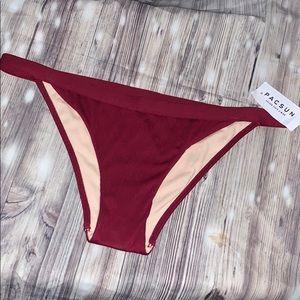 💕 La hearts women's burgundy bikini bottoms 💕